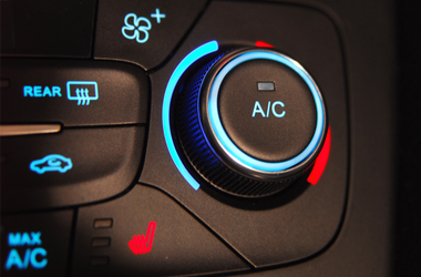 Vehicle air conditioning knob