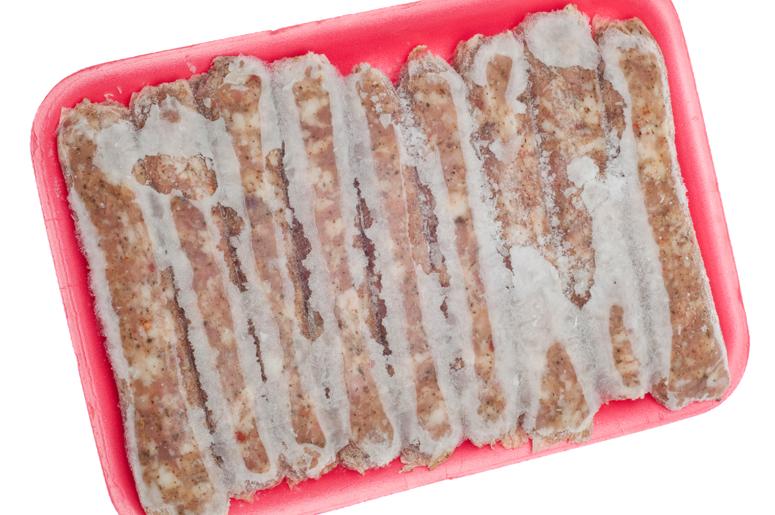 Frozen Pork Sausage-freezer burn