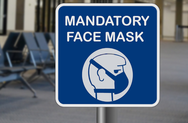 mandatory face mask sign