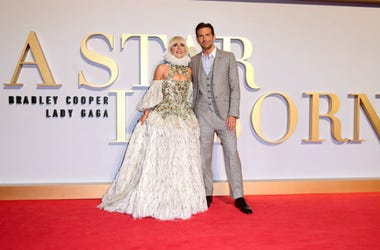 Lady Gaga and Bradley Cooper attending the UK Premiere of A Star is Born