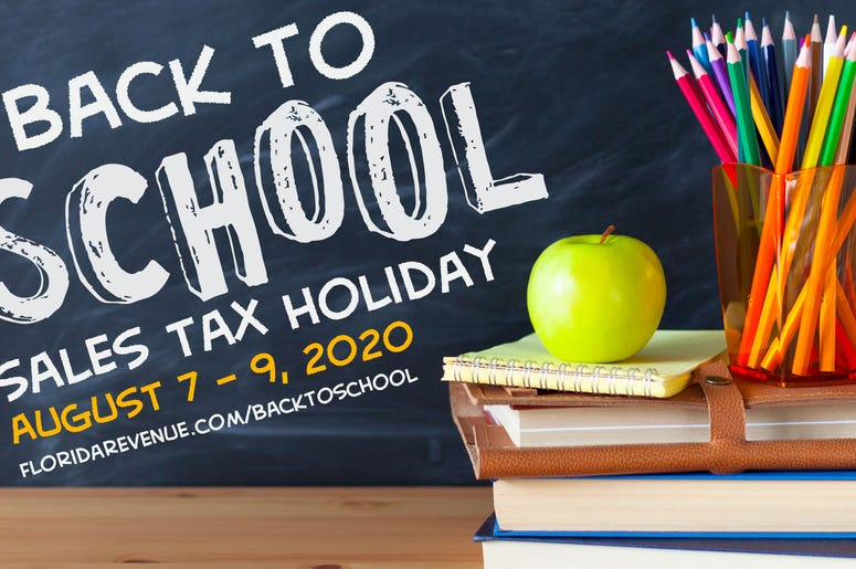 Florida Back To School Tax Holiday 2020