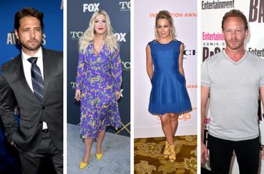 Jason Priestly, Tori Spelling, Jennie Garth, Ian Ziering