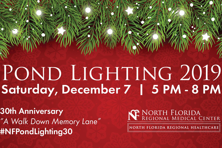 North Florida Regional Medical Center Pond Lighting 2019