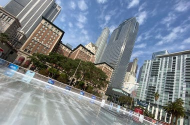 The Bai Ice Rink in DTLA