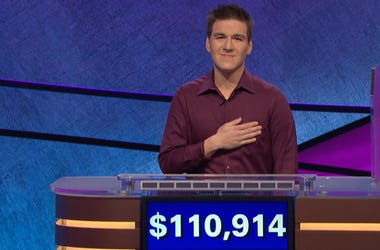 "James Holzhauer after a record-setting win on ""Jeopardy!"" in the episode from April 9, 2019."