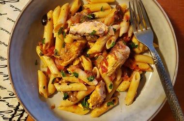 Veronica Hendrix Salmon Pasta