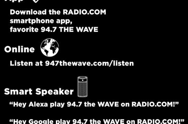 How to Listen to 947 the WAVE from home