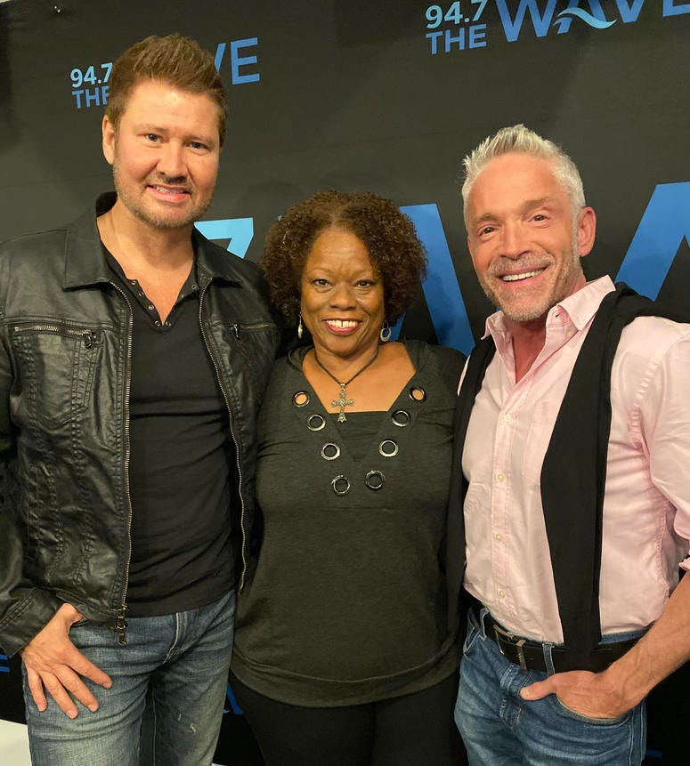 In studio with Dave Koz, Michael Lington and Pat Prescott