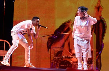 Billie Eilish at Coachella 2019 with Vince Staples