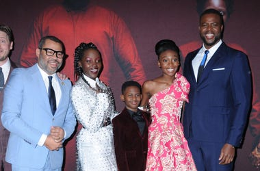 "Jordan Peele, Lupita Nyong'o, Evan Alex, Shahadi Wright Joseph and Winston Duke at Universal Pictures ""US"" Premiere"