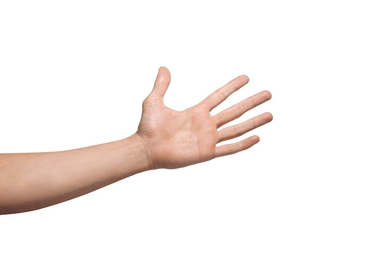 Hand, Slap, Isolated, White Background