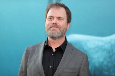 Rainn Wilson at The Meg premiere in LA