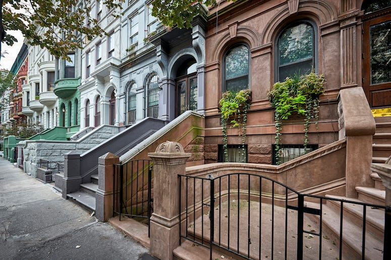 New York, Street, Apartments, Brownstone, Buildings