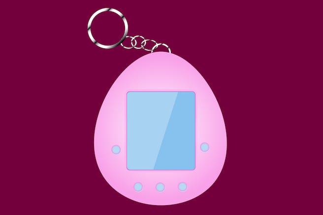 Tamagotchi, Digital Rendering, Pet, Animated, Keychain