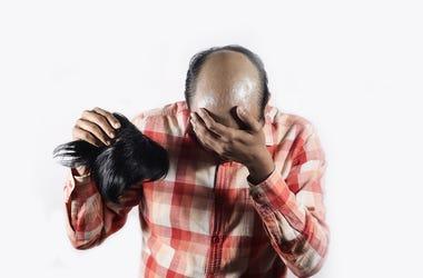 Bald, Man, Wig, Toupee, Shame