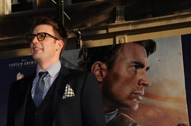 Chris Evans At The 'Captain America: The First Avenger' Premiere
