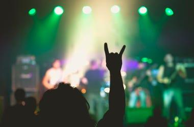 Rock Concert, Small Club, Rock Hands, Sign of the Horns, Devil Horns