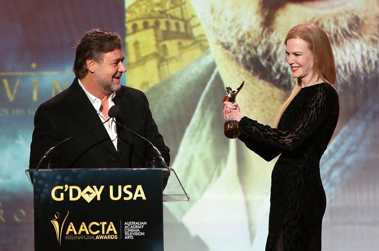 Russell Crowe and Nicole Kidman