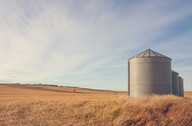 Grain Silo, Farm, Ranch, Field, Autumn