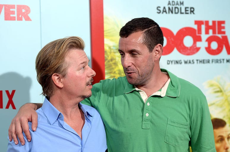 Adam Sandler and David Spade