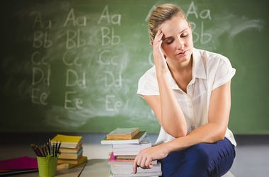 Upset Teacher