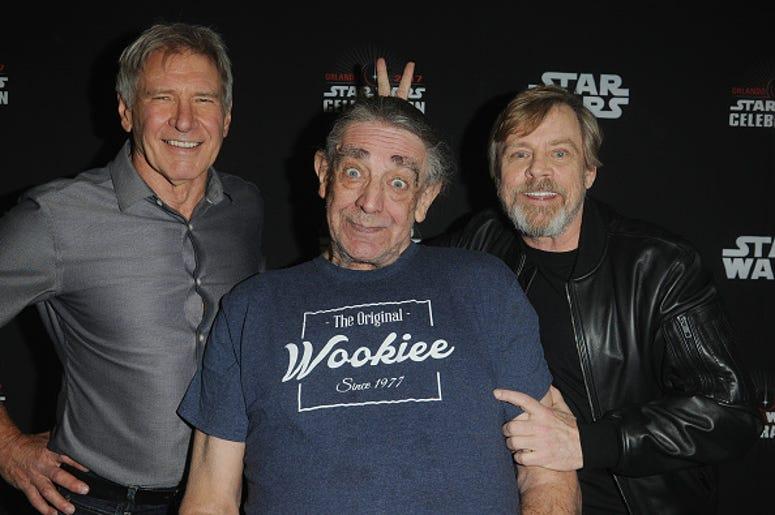 Harrison Ford, Peter Mayhew & Mark Hamill