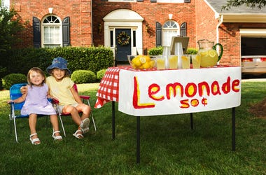 Kids at a lemonade stand