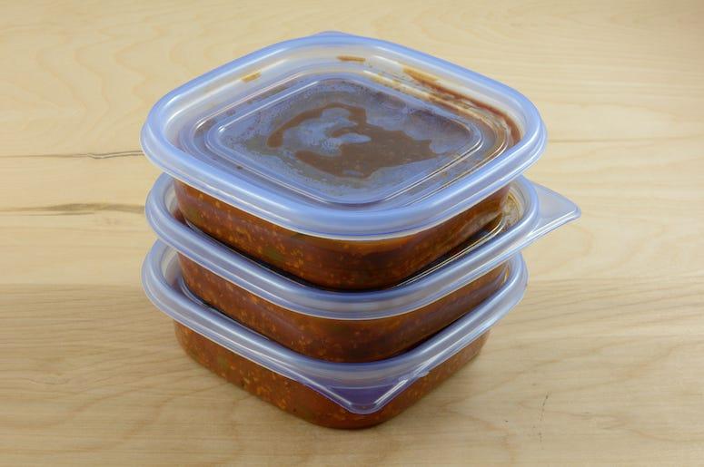 Sauce, Leftovers, Tupperware, Food, Frozen