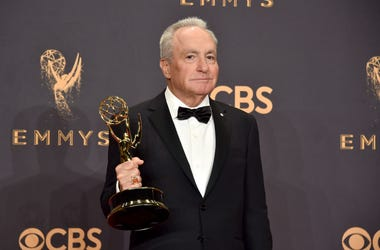 Lorne Michaels pictured with an Emmy award for Saturday Night Live