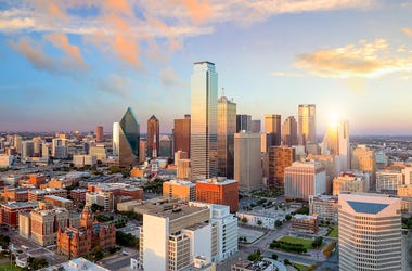 Dallas, Skyline, Cityscape, Sunset, Bank Of America Plaza