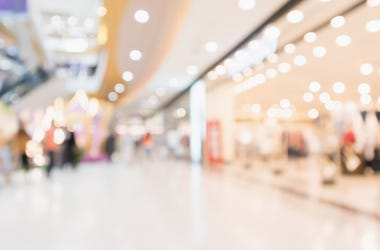 Shopping Mall, Abstract, Lights, Blurry, Bright