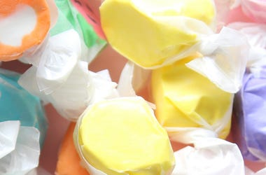 Taffy, Yellow, Candy, Assorted