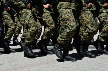 Army, Soliders, Boots, Marching, Pavement