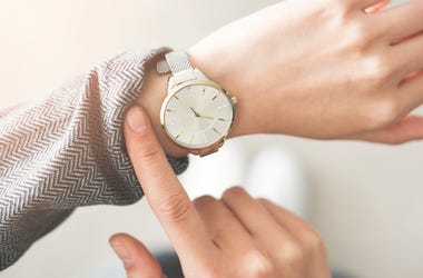 Woman, Checking the Time, Time, Watch, Clock