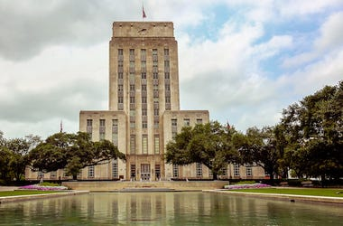 Houston, Texas, City Hall, Downtown, Cloudy