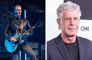 Josh Homme and Anthony Bourdain