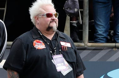 Guy Fieri, Sidelines, Sunglasses, Outside, Sunny, Staring Into The Distance, 2018