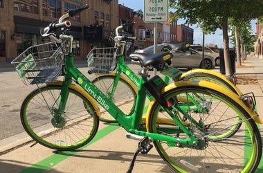 LimeBike, Bike Share, Parked, Street, Bicycle