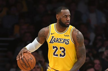 LeBron James, Lakers, Dribbling, Basketball