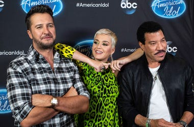 American Idol judges Luke Bryan, Katy Perry and Lionel Richie