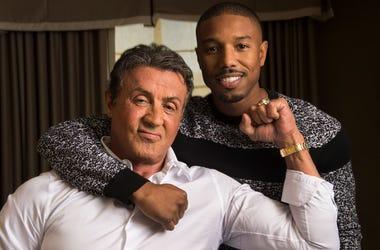Sylvester Stallone and Michael B. Jordan