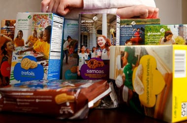 Girl Scouts, Cookies, Boxes