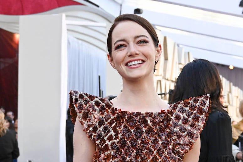 Emma Stone, Red Carpet, Smiling, 91st Academy Awards, 2019