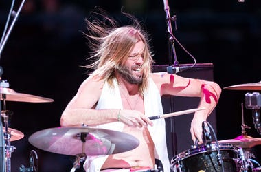 Taylor Hawkins of the band Chevy Metal performs following the NBA game between the Charlotte Hornets and Milwaukee Bucks