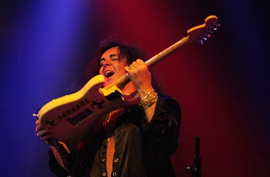 Musician Yngwie Malmsteen on stage during the 2012 Revolver Golden Gods Award Show