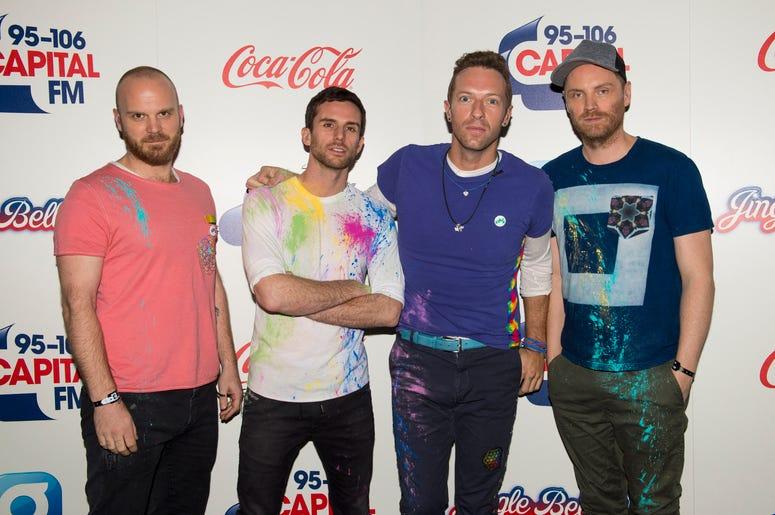 Will Champion, Guy Berryman, Chris Martin and Jonny Buckland of Coldplay
