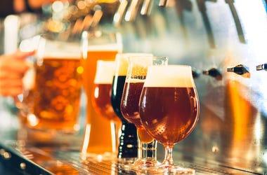 Beer, Taps, Alcohol, Bar, Pub, Glass