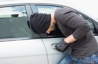 Thief, Breaking Into Car, Broad Daylight, Stealing Car