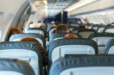 Plane, Flight, Passengers, Sitting, Interior