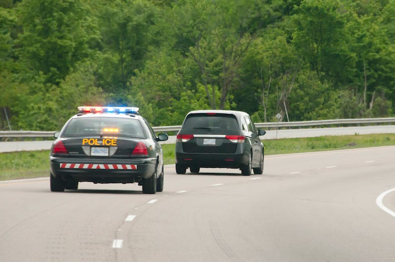 Police Chase, Highway, Minivan, Car, Pursuit, Police